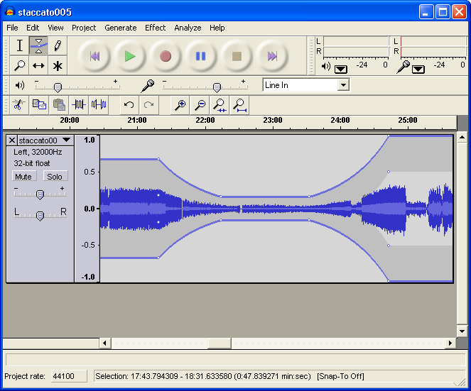 Download Audacity, Audio Editor.