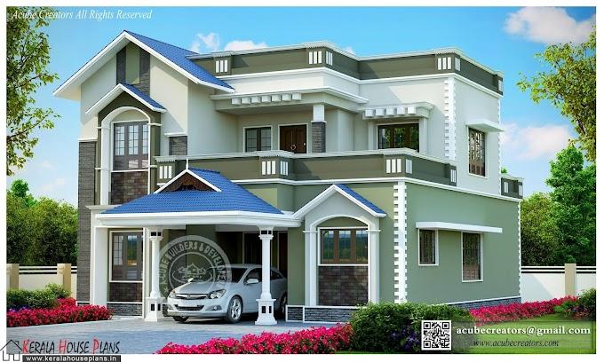 Latest home design 2406 sqft