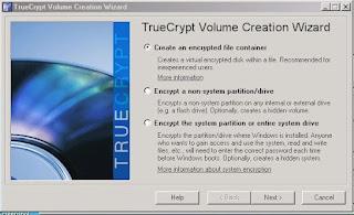 membuat folder terkunci dengan truecrypt