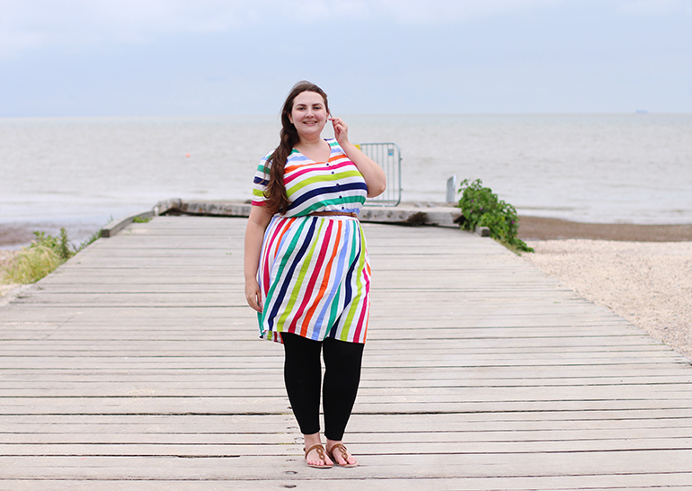 Sainsbury's striped dress plus size
