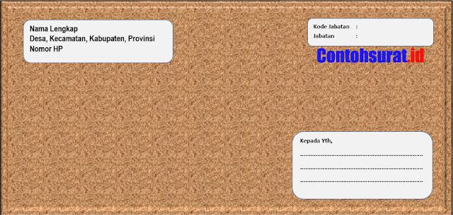 Contoh Amplop Surat Lamaran Kerja