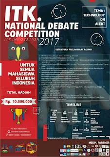 Lomba Debat Nasional 2017 di ITK (Institut Teknologi Kalimantan)