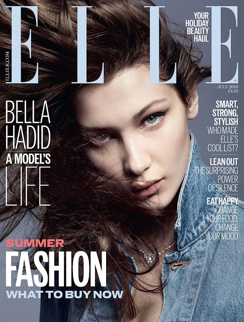 Fashion Model, @ Bella Hadid for Elle UK July 2016