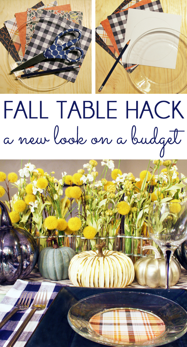 Five Minute Fall Table Hack & five minute friday Thanksgiving Table Setting Hack | Blue i Style ...