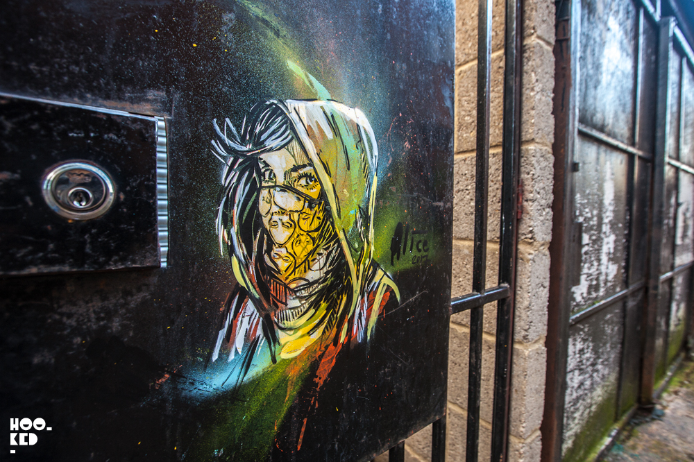 London Street Art in Penge by artist Alice Pasquini. Photo ©Hookedblog / Mark Rigney
