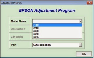 Download Resetter Epson L110 L210 L300 L350 L355