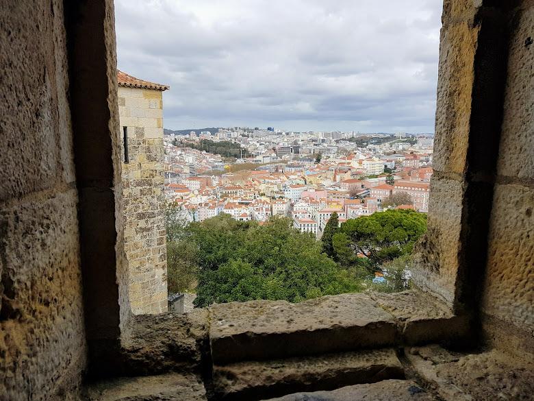從城牆可鳥瞰里斯本市區