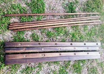 kayu di amplas dan diplitur