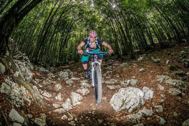 Trail Udine Friaul Mt. Cuarnan MTB Tour Trail Track
