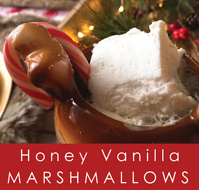 honey vanilla bean marshmallows makes about 25 squares level of
