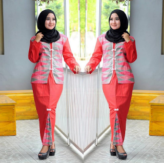 Model Rok Span Panjang Batik