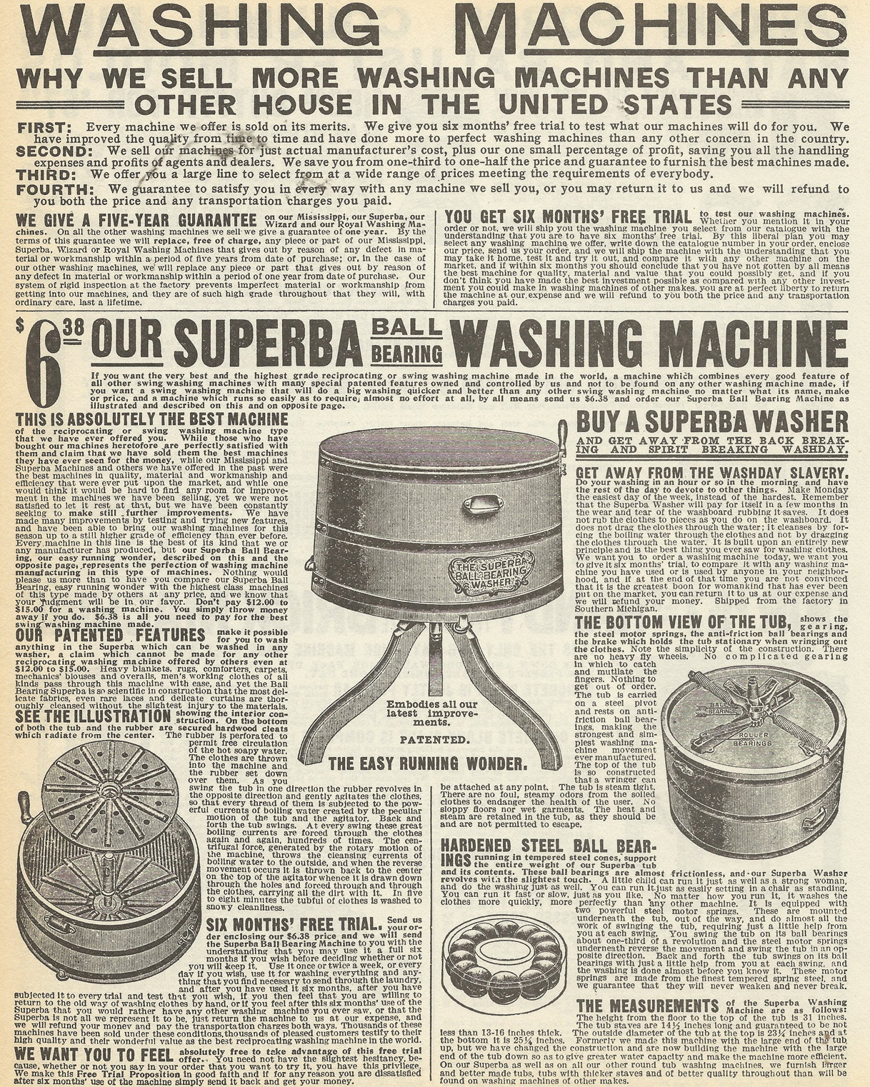 Better Homes And Gardens Granary Modern Farmhouse Printers Tv Cabinet 96 43 Vintage Washing Machine Ad Old Washing Machine