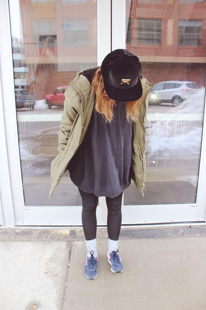 winter athleisure street fashion