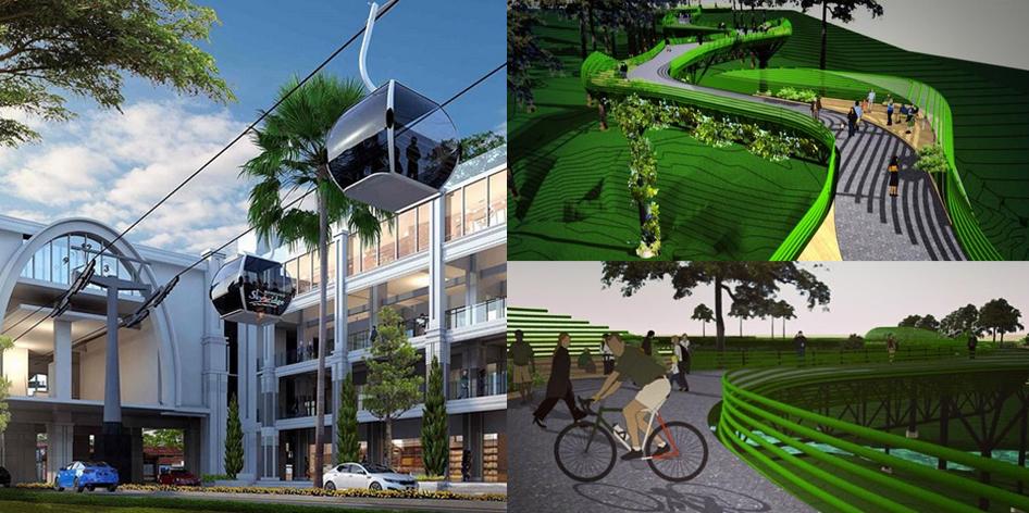 Gedung Parkir Lift dan Sky Walk di Cihampelas Bandung