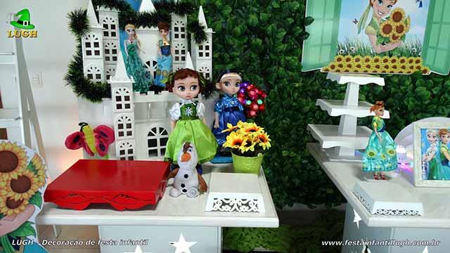 Mesa decorada festa Frozen - Aniversário da Anna - Febre Congelante