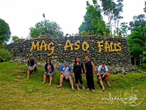 hover_share Large stone welcome marker of Mag-aso Falls Leisure Camp