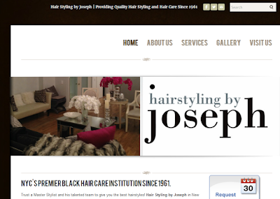 home page for Hairstyling by Joseph in Midtown Manhattan