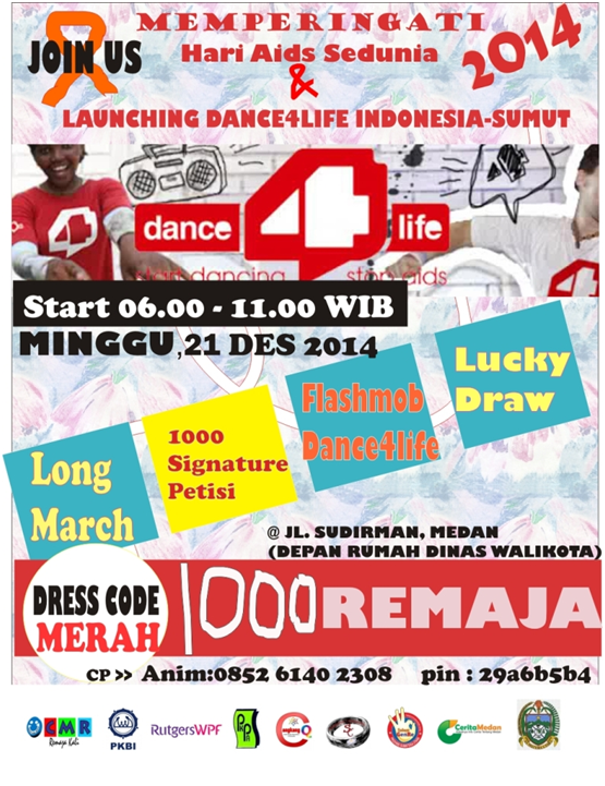 Dance4Life Launching di Sumut