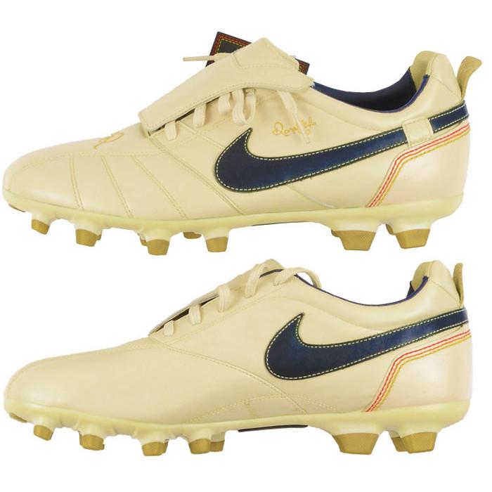 80108634024 Nike Zoom Tiempo Ronaldinho R10 2006 Signature Boots - Pearl White   Navy    Gold
