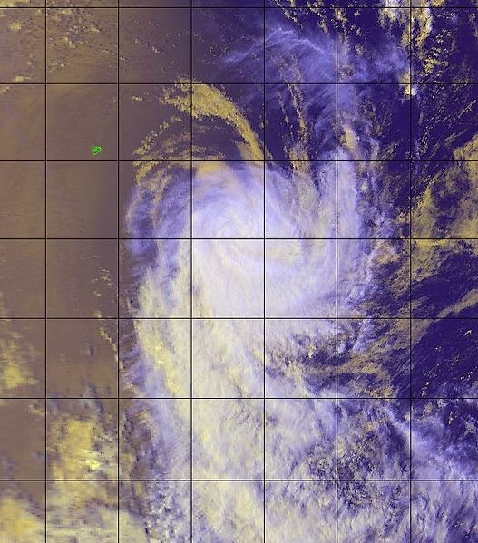 Image satellite du cyclone tropical Babiola