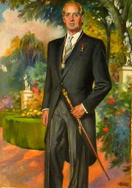 Adolfo Hernández Noda, Juan carlos I con chaque, Juan Carlos I, Retratos de Juan Carlos I, Pintores de Granada, Retrato Oficial