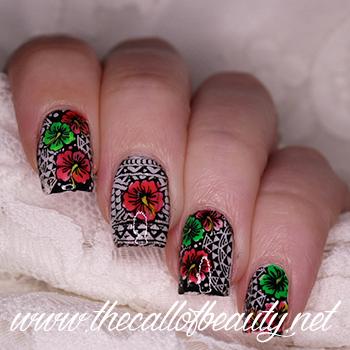 Neon Tropical Nail Art