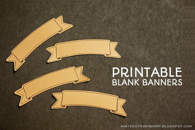 Free Printable Blank Banner With Silhouette Cut File