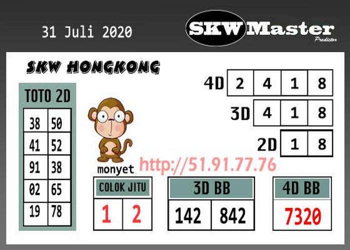 Kode syair Hongkong Jumat 31 Juli 2020 301