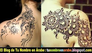 Tatuajes con Henna en la espalda