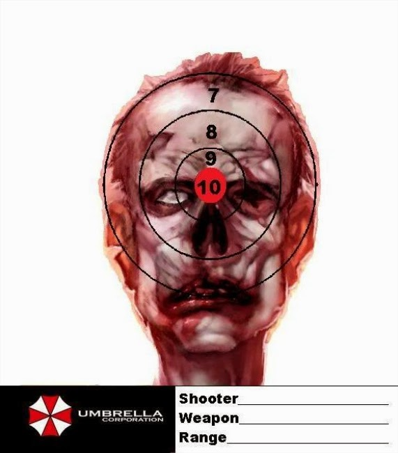 Handy image for printable zombie targets