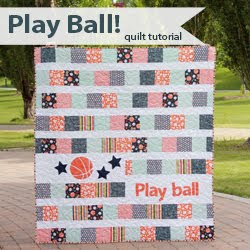 Play Ball - a free quilt tutorial from A Bright Corner