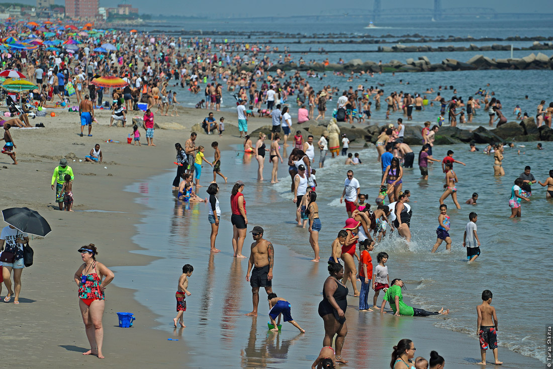 Coney Island Beach. New York