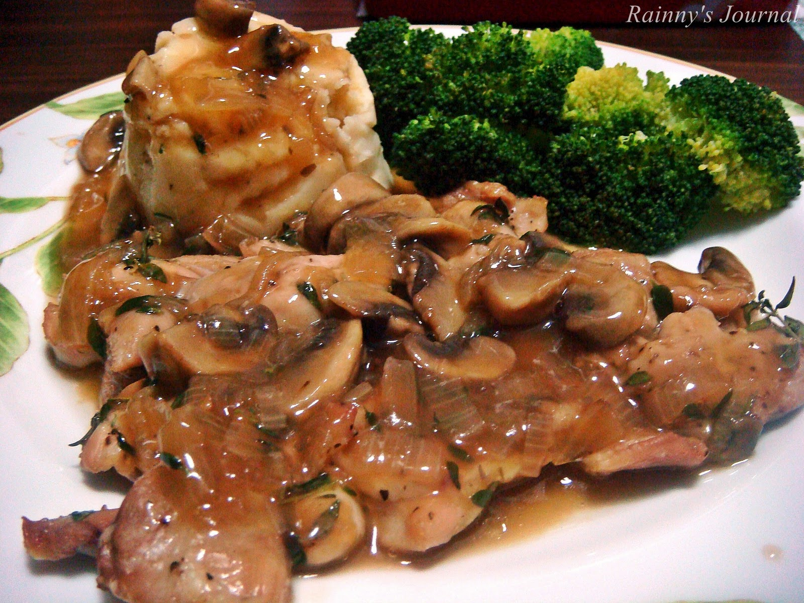 Resepi Chicken Chop Dan Sos Cendawan Blackpaper Akubahrain