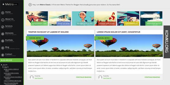 Metro classic Blogger template