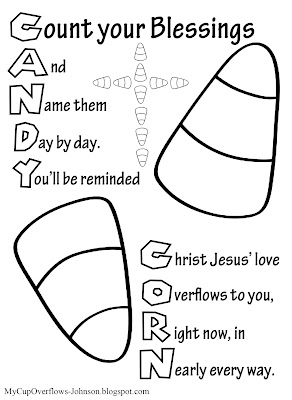 candy corn coloring page for kids bible verse