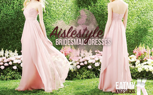Today I'm collaborating with Aislestyle, a UK-based special occasion dress retailer, to highlight some of their bridesmaid dresses, which come in a seemingly endless selection of styles. Details ahead! - Eat My Knee Socks / Mimchikimchi