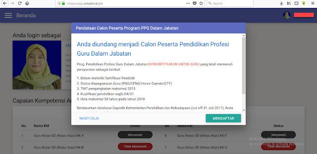 CARA/PROSES PENGAJUAN PESERTA PPG MELALUI SIM PKB TAHUN PELAJARAN 2017/2018