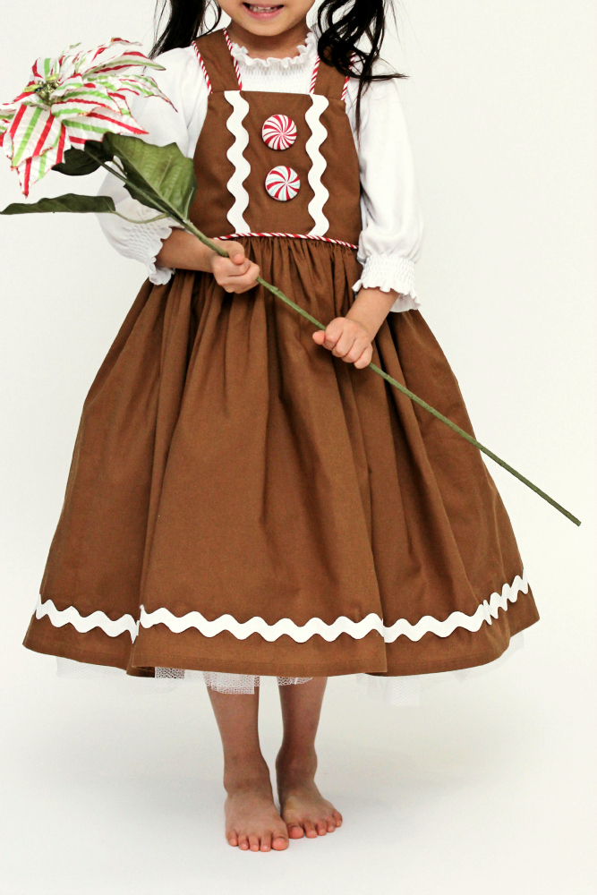 b73fe3f36a27c Peaches and Bees: Gingerbread Girl Dress for Little Momo