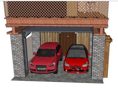 Garasi Atau Carport - Jasa Desain Gambar Rumah Minimalis Online Murah - Harga Terjangkau