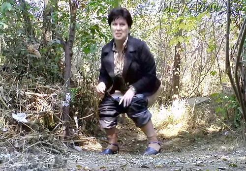 PissHunters 9091-9106 (Girls pee outdoors hidden camera. Hidden cam in public toilet)