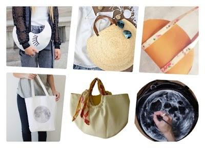 Bolsos y bolsas con motivos o forma de Luna