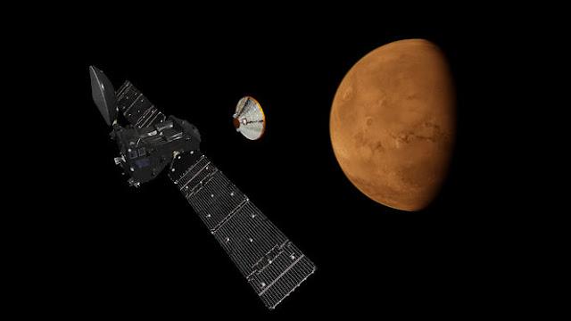 Супутник Trace Gas Orbiter почав пошук слідів життя на Марсі