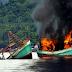 Indonesia Tenggelamkan 8 Kapal Nelayan Malaysia
