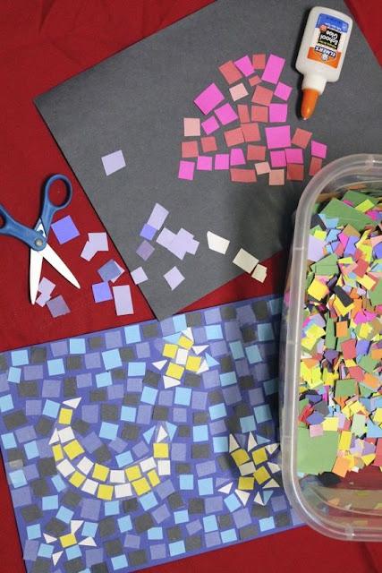 Preciosos mosaicos realizados con papel.