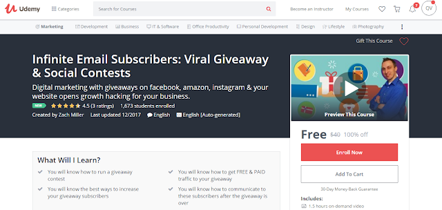 Infinite Email Subscribers: Viral Giveaway & Social Contests