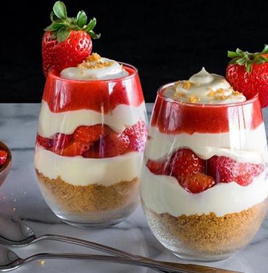 le parfait à la fraise, un dessert léger, délicieux
