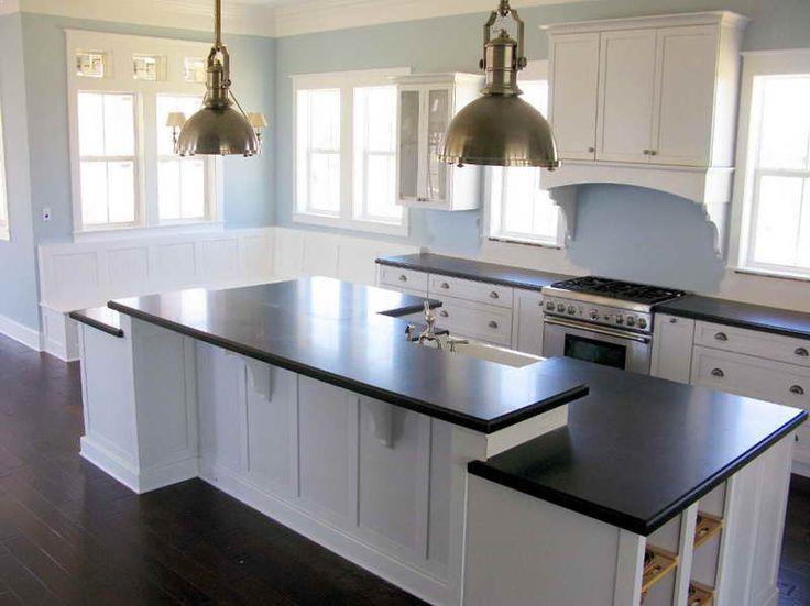White Kitchen Cabinets With Dark Countertops Home Interior Exterior Decor Design Ideas