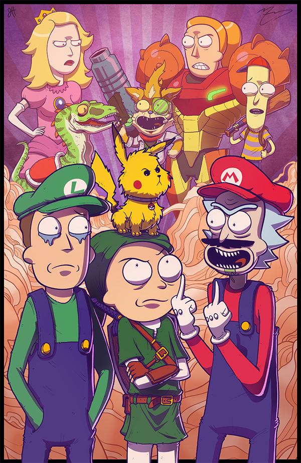 Rick and Morty Meet Smash Bros