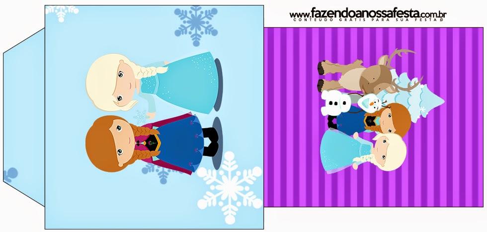 Bolsitas de Té para imprimir gratis de Frozen Niñas en Navidad.