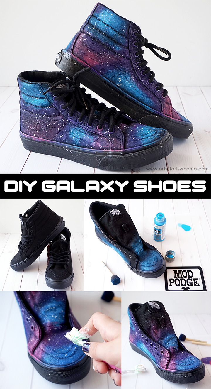 Step up your sneaker game with DIY Galaxy Shoes that are out of this world!
